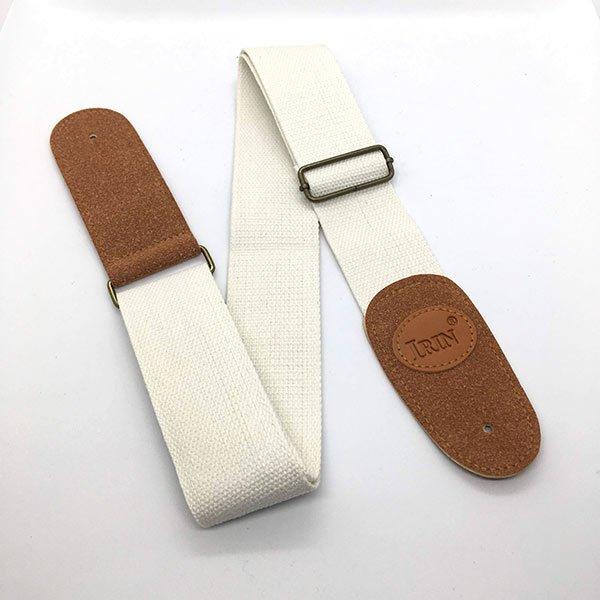custom white guitar strap