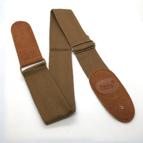 custom brown guitar strap