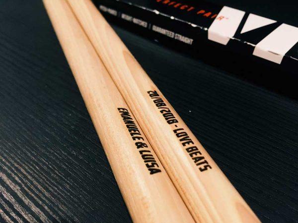 vic firth custom envgraved drumsticks mit gravur