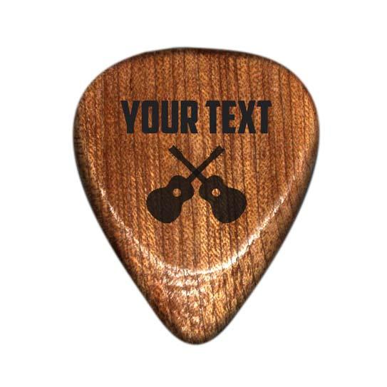 plettro in legno personalizzato