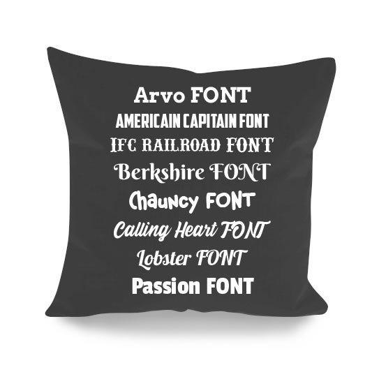 cuscino personalizzato rock musicisti font