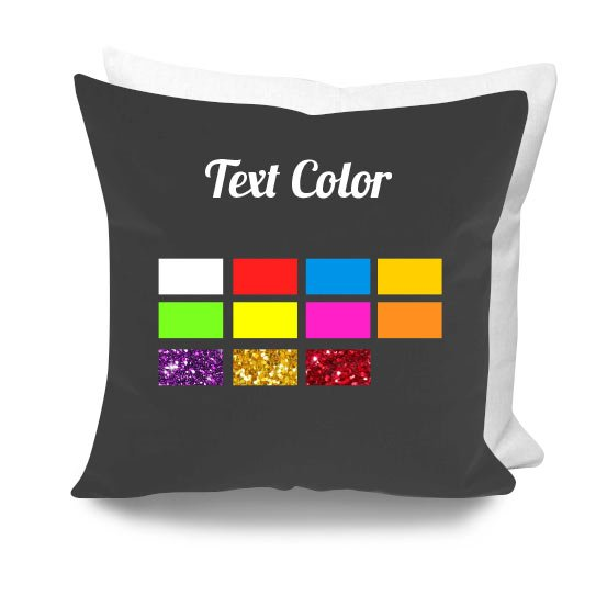 cuscino personalizzato rock colore glitter