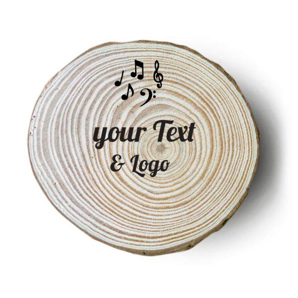 sottobicchieri in legno personalizzati rock note