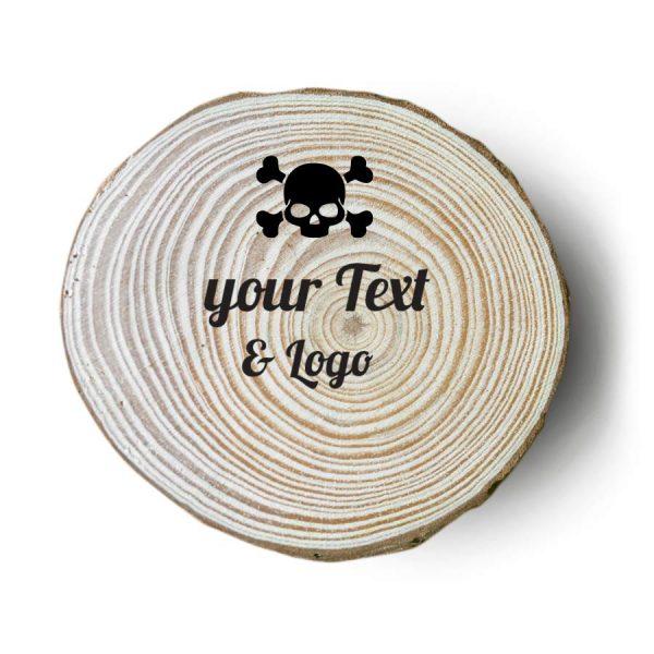 sottobicchieri in legno personalizzati rock teschio